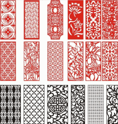 Laser Cut Pattern Screen 114 Free CDR Vectors Art