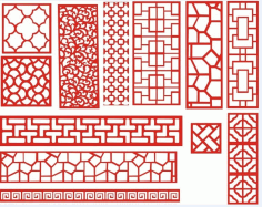 Laser Cut Pattern Screen 112 Free DXF File