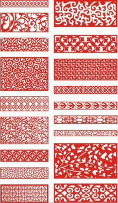 Laser Cut Pattern Screen 115 Free DXF File