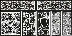 Laser Cut Pattern Screen 116 Free DXF File