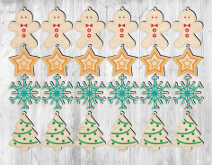 Laser Cut Snowflake Christmas Tree Free CDR Vectors Art