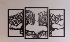 Laser Cut Wall Art Abstract Tree Free CDR Vectors Art