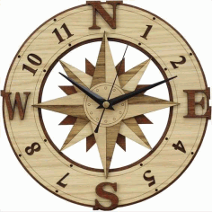 Laser Cut Wooden Clock Plans Free Download Free CDR Vectors Art