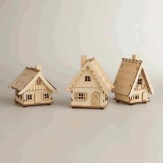 Laser Cutter Wooden Bird House Free CDR Vectors Art