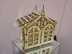 Laser Cutting Wood House Free CDR Vectors Art