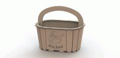Laser Engrave Storage Basket Free CDR Vectors Art