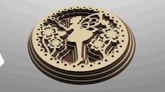 Multilayer Fairy Ornament Free CDR Vectors Art