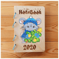 Notebook 2020 Laser Cut Wood Designs Free CDR Vectors Art