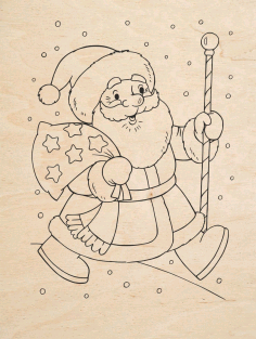 Santa Claus For Engraving Free CDR Vectors Art