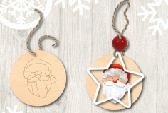 Santa Claus Template For Laser Cutting Free CDR Vectors Art