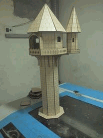 Laser Cut Wood Tower Design Free DXF File