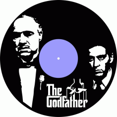 The Godfather Vinyl Record Wall Clock Laser Cutting Free CDR Vectors Art
