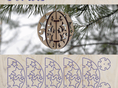 Cartonus Christmas Tree Ornament Stars Free DXF File