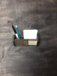 Laser Cut Desk Organizer With Calendar Free CDR Vectors Art