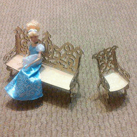 Laser Cut Doll Sofa Set Free CDR Vectors Art