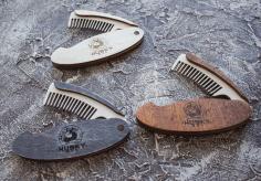 Laser Cut Folding Hair And Beard Comb Free CDR Vectors Art