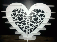 Laser Cut Heart Shape Shelf Free CDR Vectors Art