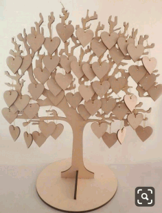 Laser Cut Tree With Heart Samples Free CDR Vectors Art