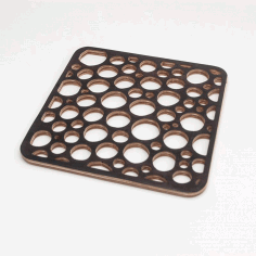 Laser Cut Bubble Trivet Free DXF File