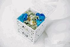 Laser Cut Wedding Box 90x90x90 Free CDR Vectors Art