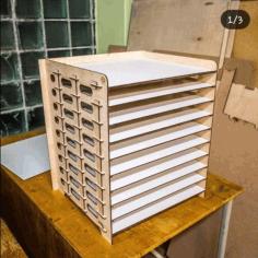 Laser Cut Wooden Building Model Free CDR Vectors Art