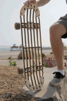 Laser Cut Skateboard Profile Entity Free DXF File