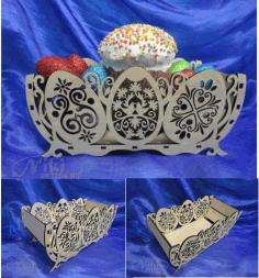 Laser Cut Easter Basket Plywood Free CDR Vectors Art