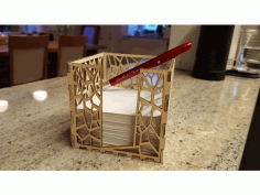 Laser Cut Paper Holder 95mm 20×30 Free CDR Vectors Art