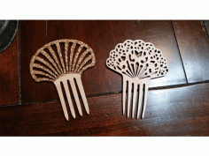 Laser Cut Patterned Hair Comb Free CDR Vectors Art