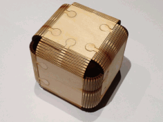 Foldable Wood Cube Laser Cut Free DXF File