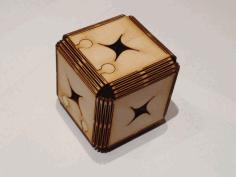 Lasercut Cube Free DXF File