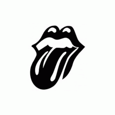 Rolling Stones Hot Lips Free DXF File