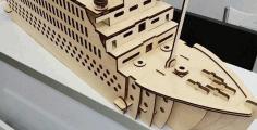 Titanic Ship Laser Cut Design Plan Download Free DXF File