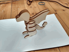 Toy Dragon 3d Puzzle wood Free DXF File