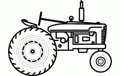 Tractor Side Sketch Free DXF File