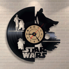 Vinyl Record Clock Star Wars Decor Free CDR Vectors Art