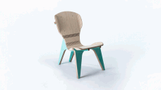 Chair Template For Cnc Router Laser Cutting Free DXF File