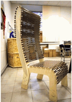 CNC Laser cut Chair Free DXF File