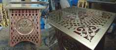 Decor Table For Cnc Router Laser Plasma Free DXF File