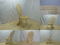 Fancy Plywood Chair Free DXF File