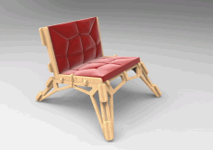 Laser Cut Chair Sofa 20mm Free DXF File