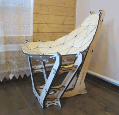 Laser Cut Chaise Lounge Cutting Free DXF File