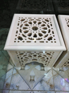 Laser Cut Decorative Stool Cnc Router Free DXF File