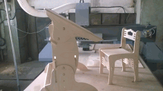 Laser Cut Wooden Desk And Chair Free DXF File