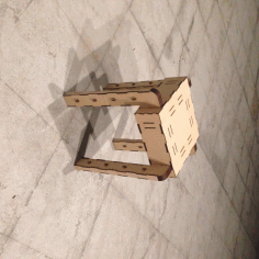 Laser Cut Mini Stacking Stool Mdf 2.5mm Free DXF File