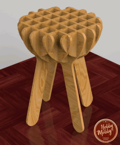 Laser Cut Stool Free DXF File