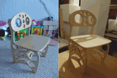 Laser Cutting Baby Chair Free DXF File