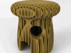 Mushroom Stool Free DXF File