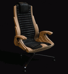 Parametric Office Chair Free DXF File