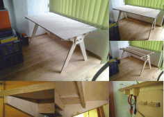 Plywood Computer Table Free DXF File